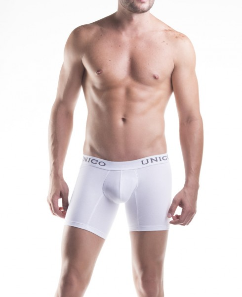 BOXER LONG WHITE COTTON