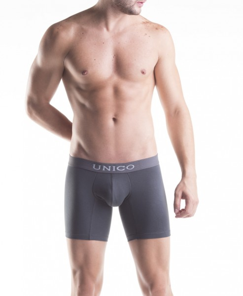 BOXER LONG GREY COTTON